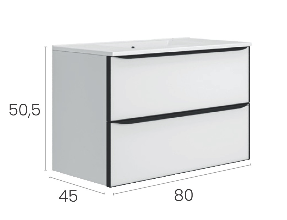 Mueble Glass 80